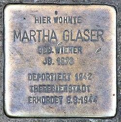 Photo of Martha Glaser brass plaque