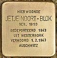 Stolperstein für Jetje Noort-Blok (Den Haag).jpg