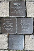 Stolpersteine für Erna, Hermann, Julius und Rosalie Baumgarten