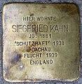 Stolpersteine Heidelberg, Siegfried Kahn (Bunsenstraße 7).jpg