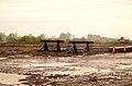 Stop blocks in a wet Thingley Yard - geograph.org.uk - 1841331.jpg