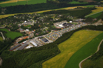 Meldal - The area of the Storås Festival in Meldal