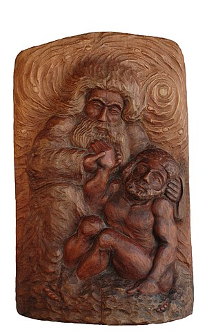 Creation of man from clay - Fashioning a man out of clay