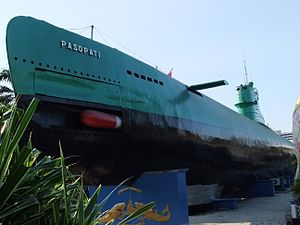 Indonesian Navy - KRI Pasopati, a Whiskey-class submarine which is now a museum ship