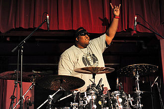 Drummer Eric Moore from crossover thrash band Suicidal Tendencies Suicidal Tendencies @ Capitol (18 5 2011) (5770925587).jpg