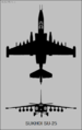 Sukhoi Su-25 two-view silhouette.png