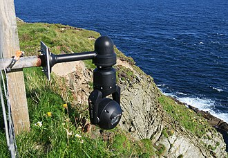 Webcam - A webcam installed near Sumburgh Head lighthouse, (Shetland)