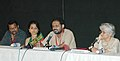 Sumitra Bhave and Sunil Sukthankar of the film Badha addressing a press conference at Black Box ,Kala Academy on the occasion of 37th International Film Festival of India (IFFI-2006) in Panaji, Goa on December 2, 2006.jpg
