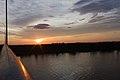 Sunset on the Lanang bridge, Sibu.jpg