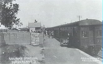 Sutherland Shire - A train in Sutherland circa 1920