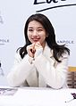 Suzy at a fan meeting for Bean Pole, 7 December 2014 03.jpg