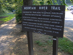 Sycamore Shoals State Historic Area - Mountain River trailhead