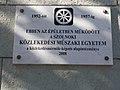 Szolnoki Közlekedési Műszaki Egyetem emléktábla, Kossuth Lajos út, 2017 Szolnok.jpg