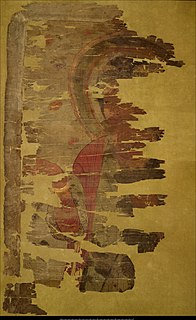 Tʻang dynasty fragmentary silk painting of Jesus Christ according to the Chinese Nestorian vision