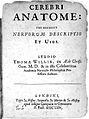 """T. Willis """"Cerebri anatome"""", 1664; title page Wellcome L0018991.jpg"""