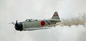 Commemorative Air Force - T-6 Texan converted to resemble a Mitsubishi A6M Zero as flown by the Commemorative Air Force's Tora! Tora! Tora! group