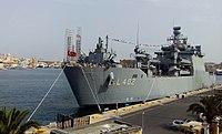 TCG Bayraktar (L-403) in Valletta harbor.jpg