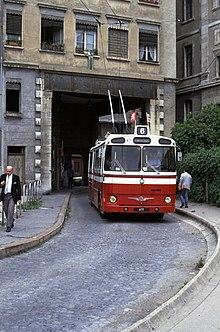 Ligne s6 de trolleybus de lyon wikip dia for Garage du tram villeurbanne