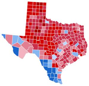 Texas gubernatorial election, 2010 - Image: TX Gov 2010Map