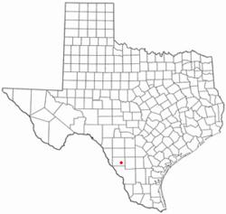 Location of Catarina, Texas