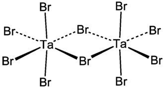 Tantalum(V) bromide - Image: Ta 2Br 10
