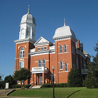 Taliaferro County Courthouse east facade