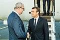 Tallinn Digital Summit. Airport arrivals HoSG Emmanuel Macron (36665682534).jpg