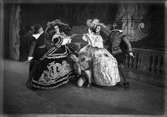 Ballets Russes - Tamara Grigorieva, Irina Zarova, Alberto Alonso (as the Dwarf in front), Georges Skibine and Nicolas Ivangin in Pavane, Original Ballet Russe Australian tour