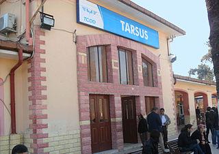 Tarsus railway station a railway station of Mersin, Turkey