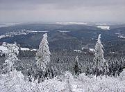 Blick vom Großen Feldberg über den Taunus