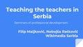 Teaching the teachers in Serbia.pdf
