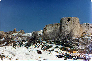 Holy Land - Crusader castle of Toron in the village of Tibnin, Lebanon