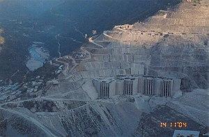 Tehri Dam - Tehri dam in November 2004