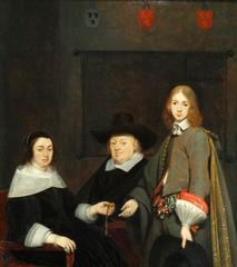 Family portrait of Antonie Charles de Liedekercke, wife Willemina van Braeckel and son Samuel