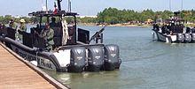 texas highway patrol gunboats in the rio grande