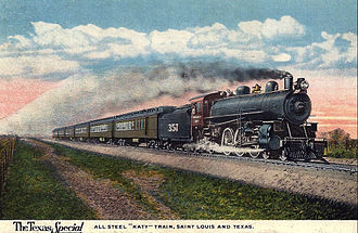 Texas Special - Postcard of the train from 1919.
