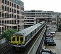 Thameslink-Zug der First Capital Connect bei Verlassen von Blackfriars Richtung Norden.JPG
