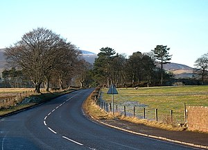 A72 road - The A72 near Wolfclyde between Symington and Biggar