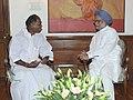 The Chief Minister of Puducherry, Shri N. Rangaswamy calling on the Prime Minister, Dr. Manmohan Singh, in New Delhi on June 25, 2012.jpg