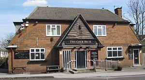 Cock Beck - The Cock Beck public house, Pendas Way