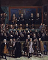 The Court of Chancery during the reign of George I. Painting by Benjamin Ferrers
