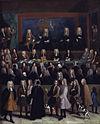 A portrait of a large gathering of judges