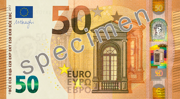The Europa series 50 € obverse side