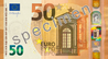 Billet de 50 euros (série Europe, recto).