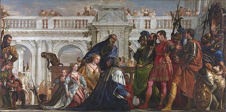 The Family of Darius before Alexander, by Paolo Veronese, 1570. The Family of Darius before Alexander by Paolo Veronese 1570.jpg