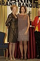 The First Lady of the Marine Corps, Bonnie Amos, left, poses for a photo with Shannon Maxwell during the 33rd Annual Modern Day Marine Grand Banquet in Pentagon City, Arlington, Va., Sept 130925-M-LU710-348.jpg