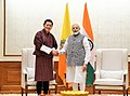 The King of Bhutan, His Majesty Jigme Khesar Namgyel Wangchuck meeting the Prime Minister, Shri Narendra Modi, at 7, Lok Kalyan Marg, in New Delhi on November 01, 2017.jpg