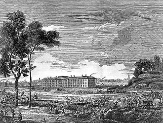 Royal London Hospital - London Hospital, Whitechapel in a 1753 engraving