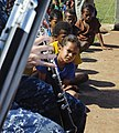 The Pacific Fleet Band entertains children in Savusavu, Fiji, during Pacific Partnership 2015 150612-N-HE318-037.jpg