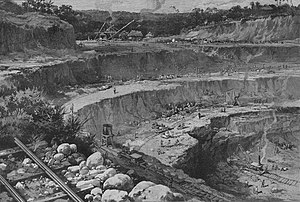 History of the Panama Canal - The Culebra Cut in 1885